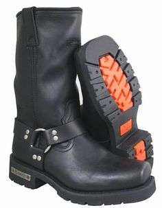 Xelement Men's Motorcycle Harness Biker Boot with Lug Sole