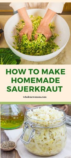 How to make your own sauerkraut at home. This easy homemade recipe has just 2 ingredients. This quick homemade fermented food sauerkraut recipe is so simple and healthy you will never want to buy expensive store bought again Homemade Sauerkraut, Sauerkraut Recipes, Fermentation Recipes, Healthy Snacks, Healthy Recipes, Easy Homemade Recipes, Homemade Seasonings, Fermented Foods, 2 Ingredients