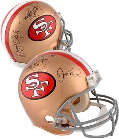 Joe Montana  amp  Dwight Clark SF 49ers Signed Riddell Pro Helmet w   Multiple Inscs c5bedc9ee