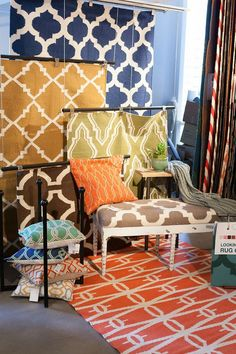 Spruce loves Surya's bright and bold patterns, flat weave rugs, hundreds of pillows and colors to choose from!