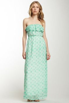 Strapless Ruffle Maxi Dress on HauteLook