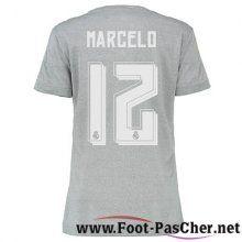 Nouveau Maillots Real Madrid Gris Femme Marcelo 12 Exterieur 15 2016 2017 Pas Chere