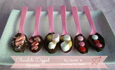 Chocolate Dipped Spoons