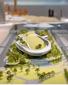 Lucas museum of narrative art, Los Angeles, designed by MAD architects image © Jared Chulski Maquette Architecture, Form Architecture, Contemporary Architecture, Lucas Museum, Future Buildings, Landscape Model, Architectural Engineering, Arch Model, City Museum