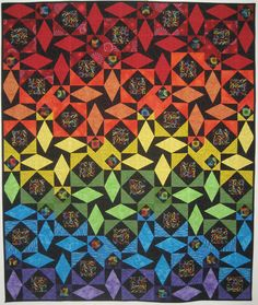 storm at sea quilt Storm At Sea Quilt, Sea Storm, Quilting Projects, Quilting Designs, Quilt Modernen, Rainbow Quilt, Amish Quilts, Contemporary Quilts