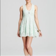 Free People Embroidered Mesh Dress- Nwt- Size 2