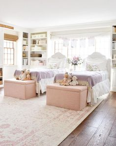 The girls realized that if they take the tops of these Lulu & Geor Shared Girls Room Dreams Geor girls Lulu realized Sweet tops Twin Girl Bedrooms, Little Girl Rooms, Girls Bedroom, Bedroom Decor, Childrens Bedrooms Shared, Twin Girls, Shared Room Girls, Modern Girls Rooms, Bedroom Ideas