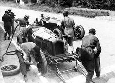 Spa Francorchamps 1931. La Monza de Nuvolari, arrivé deuxième des 10 Heures de Belgique.