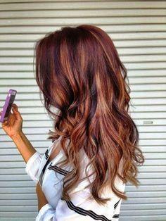 hair color rouge avec meches
