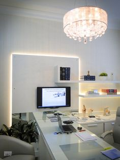 Reception Desk Design, Clinic Design, Home Office Design, Office Interiors, Furniture Design, Sweet Home, Kittens Playing, Room, Paintings