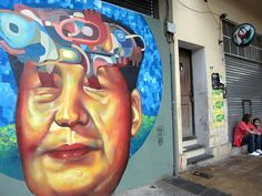 Buenos Aires Street Art. Ever's mural of Mao.