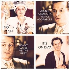 """""""Daddy loves me the best"""" - Moriarty . Sherlock and Mycrofts missing brother.head canon accepted times <---- I ACCEPT THIS HEADCANON OMG Sherlock Moriarty, James Moriarty, Sherlock Fandom, Benedict Cumberbatch, Mrs Hudson, Sherlolly, 221b Baker Street, Andrew Scott, John Watson"""