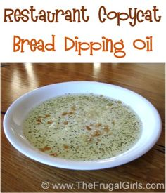 No Pasta dish is complete without some delicious bread and Restaurant Copycat Bread Dipping Oil!  {yum!} One day my sweet mom-in-law and I started experimenting in the kitchen, and came up with a d...