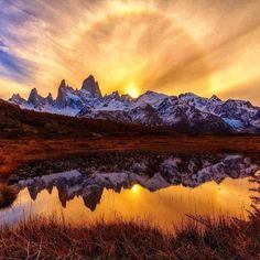 Ring of fire, Fitz Roy, Argentina