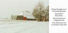 TAR foto van de schuur in RIJSBERGEN kerstkaart van TERRY and IREEN