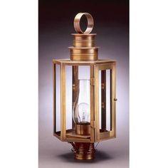 Northeast Lantern Hardwick Chimney Large Hexagon 1 Light Lantern Head Finish: Antique Brass, Shade Type: Seedy Marine