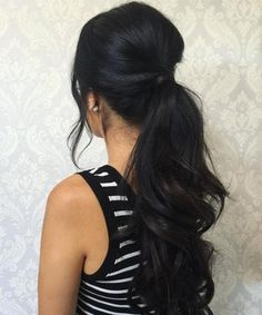 21 Beautiful Long Pony Hairstyles 2018 to Look Awesome