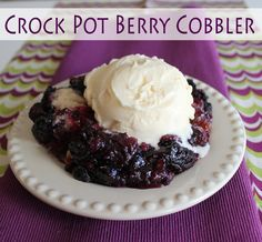 Crock Pot Berry Cobbler from Jamie Cooks It Up! - for sure good for the cold weather, but a nice no-heat-the-kitchen for hotter weather