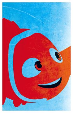 Finding Nemo poster print. Nemo and Dory 11x17 by PosterForum