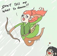 Accurate portrayal of Tauriel.