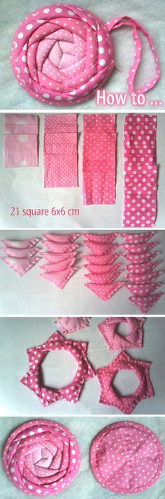 Coin Purse Rose. Photo Sewing Tutorial. Step by step DIY. http://www.handmadiya.com/2016/02/purse-rose-tutorial.html