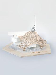 Pompidou Metz Structural Study Model