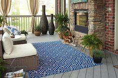 The Mohawk Home Maze Indoor/Outdoor Rug adds a striking accent to your outdoor space with its basketweave design. This indoor/outdoor rug is sure to. Indoor Outdoor Rugs, Outdoor Area Rugs, Outdoor Living, Outdoor Decor, Outdoor Spaces, Outdoor Ideas, Backyard Ideas, Backyard Retreat, Outdoor Fire