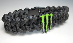 Monster Energy Paracord Bracelet   FREE SHIPPING by ParacordLinks