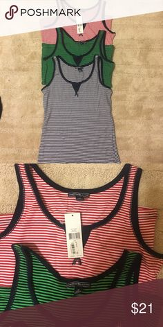 Set of 3 American Living Tank Tops 1 out of 3 still has tags never worn. The green and blue were washed and NOT worn. Absolutely comfortable! american living  Tops Tank Tops