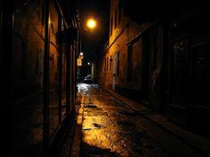 On a dark alley