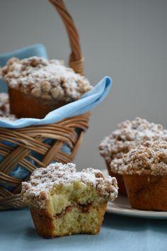 1 Cinnamon Crumb Muffins   Champagne Frosting