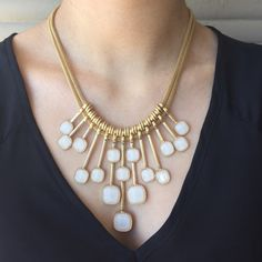 White Drop Necklace Beautiful white and gold necklace! Comfortable fit and light Serval Fashion Jewelry Necklaces