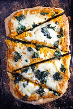 Butternut Squash and Kale Pizza - so yummy!