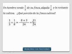 Resolver problemas con fracciones