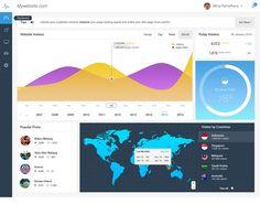 Free Analytics Dashboard UI PSD