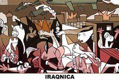 Iraqnica Pablo Picasso, Picasso Guernica, Picasso Art, Kitsch, Street Art, Spanish Art, Art For Art Sake, Art Plastique, Mythology