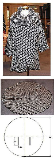Circle coat, easy to follow pictures