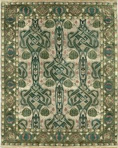 Celtic knot rug.  Oh YES!  Definitely in my new den! over the new hardwood floor!  I even like the green..  This spring and summer, it's off junk hunting!