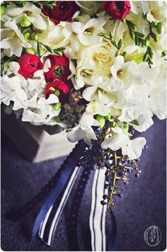 Holly-Hedge-Estate-White-Navy-Blue-Spring-Summer-Freesia-Rananculus-Privet-Sweet-Pea-Striped-Ribbon-Bouquet-Oleander-New-Jersey-Bucks-County-Wedding-Florist
