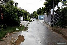 View of the road outside my house after rain. by mariachughtaiIf you are interested in my work, then here's the link to my Facebook page: https://www.facebook.com/pages/The-Beadzone-Official/324542497637250