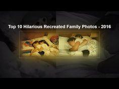 Top 10 Hilarious Recreated Family Photos - 2016 - YouTube