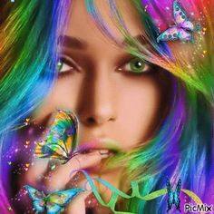 Chica arco iris.