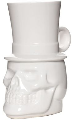 SIR SKULLY COFFEE MUG $15.00 #housewares #mug #skull
