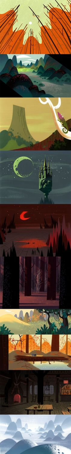 Bill Wray, Dan Krall and Scott Willis, background artists of Samurai Jack.: