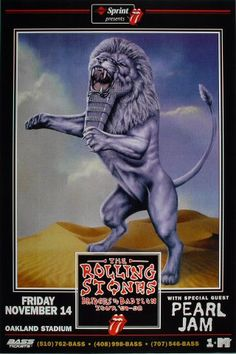 The Rolling Stones Poster - Rock posters, concert posters, and vintage posters from the Fillmore, Fillmore East, Winterland, Grande Ballroom, Armadillo World Headquarters, The Ark, The Bank, Kaleidoscope Club, Shrine Auditorium and Avalon Ballroom.