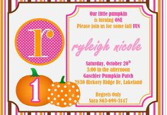 Pumpkin Patch Party Custom Invitations