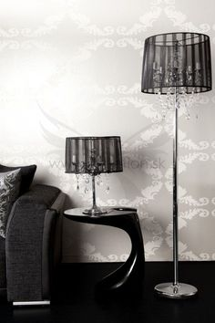Luxusná staro-talianska lampa Kronecal Black Table Lamp, Lighting, Black, Home Decor, Lamp Table, Black People, Room Decor, Table Lamps, Home Interior Design