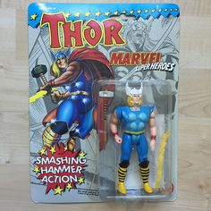 "#flashforwardfriday Marvel Superheroes Thor- (in old man voice) ""Damn kids back in my day the only Thor we had was Vince D'onofrio in Adventures in Babysitting and this figure"" #marvel #marvelsuperheroes #thor #Avengers #marvelcomics #superhero #toybiz #moc #vintage #vintagetoys #actionfigures #toy #80s #80stoys #90s #90stoys #hammer #ridethelightning by 80stoys"