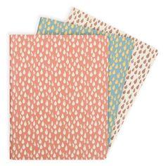 Raindrops A6 exercise books - set of 3 - Notebooks - Stationery