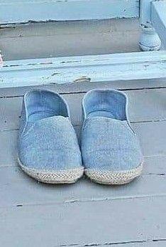 Espadrilles, Slippers, Flats, Blue, Shoes, Fashion, Espadrilles Outfit, Toe Shoes, Moda
